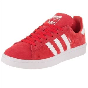 adidas red campus shoes
